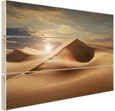 Zandduinen in een woestijn Hout 30x20 cm - klein - Foto print op Hout (Wanddecoratie)