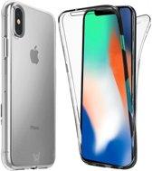 Apple iPhone Xs / X Hoesje Transparant - Volledig Beeld 360 Graden Hoesje met Screenprotector  Siliconen Gel TPU Case van iCall