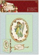A5 Decoupage Card Kit - Victorian Christmas