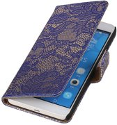 Huawei Honor 6 Plus Blauw   Lace bookstyle / book case/ wallet case Hoes    WN™