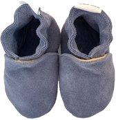 BabySteps slofjes Plain Blue Suède Large