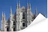 Strak heldere lucht boven de Kathedraal van Milaan Poster 120x80 cm - Foto print op Poster (wanddecoratie woonkamer / slaapkamer)