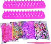 Loom Twister Loombands Fun Loom 2000-delig Felroze