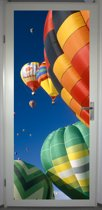 Deurposter 'Luchtballon' - deursticker 75x195 cm