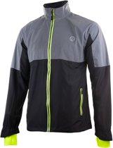 Rogelli Reflex Sportjas - Maat L  - Mannen - Zwart/grijs/groen