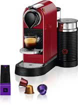 Nespresso Krups CitiZ & Milk XN7605 - Cherry Red