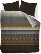 Beddinghouse Linear Leaf - Dekbedovertrek - Eenpersoons - 140x200/220 cm - Zand