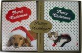 Kerstkaarten met nieuwjaars wens hond/kat (5x10) 50 kaarten