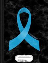Colon Cancer Awareness Ribbon Composition Notebook