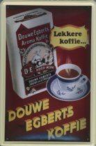 Douwe Egberts Koffie reclame DE Lekkere Koffie reclamebord 20x30 cm