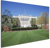 Witte Huis gazon Washington DC Aluminium 180x120 cm - Foto print op Aluminium (metaal wanddecoratie) XXL / Groot formaat!