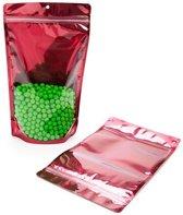 Stazakken Transparant/Fuchsia 17,1x8,9x28,6cm | 340 gram (100 stuks)