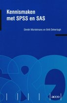 Kennismaken met SPSS en SAS