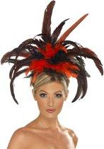 Burlesque / Cabaret haarband met veren