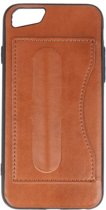 Standing TPU Wallet Case voor iPhone 8 / 7 Bruin