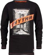 Vingino Jongens T-shirt - Deep Black - Maat 128