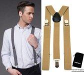 Bretels - Goud - Sorprese - met stevige clip - luxe - heren bretels - unisex