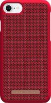 Nordic Elements Sif backcover voor Apple iPhone 6/7/8 -  Pied-de-poule rood / zwart textiel
