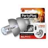 Alpine PartyPlug - Muziek oordoppen - Zilvergrijs - SNR 19 dB - 1 paar
