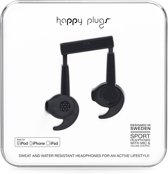 Happy Plugs Sports Mfi -  In-Ear Hoofdtelefoon - Zwart