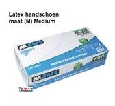 Latex wegwerp handschoenen doos (100 st. maat (M)-Medium) Ter voorkoming van besmetting en virussen. - DD-8946-M