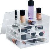 YOSMO Qube - Make up organizer - H20xB23xL23 cm - Clear Acryl - Make up opbergbox - Make up opbergen
