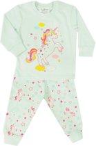 Fun2Wear Unicorn / Eenhoorn - Paarden - Peuter - Kleuter - Kinder / pyjama - Mint - Maat 98