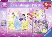 Ravensburger Disney Princess Sneeuwwitje. Drie puzzels van 49 stukjes - kinderpuzzel