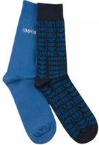 Emporio Armani 2-Pack Socks Blue Stripe