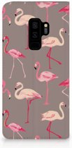 Samsung Galaxy S9 Plus Uniek Standcase Hoesje Flamingo