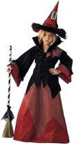 Heks & Spider Lady & Voodoo & Duistere Religie Kostuum | Slechte Tovenares Heks Hysteria | Meisje | Maat 146 | Halloween | Verkleedkleding