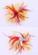 Veren hoofddecoratie rood/wit/geel