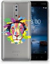 Nokia 8 Uniek TPU Hoesje Lion Color
