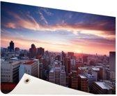Zonsondergang over Johannesburg Tuinposter 120x80 cm - Tuindoek / Buitencanvas / Schilderijen voor buiten (tuin decoratie)