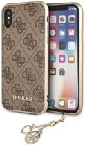 Guess 4G Charms Hard Case voor Apple iPhone X / Xs (5,8'') - Bruin