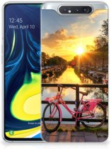 Samsung Galaxy A80 Siliconen Back Cover Amsterdamse Grachten