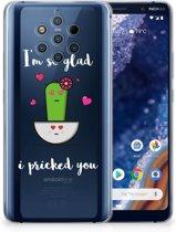 Nokia 9 PureView Telefoonhoesje met Naam Cactus Glad