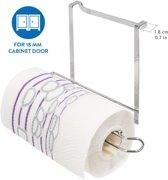 Hangende Keukenrolhouder - Ruimtebesparende Keukenkast Houder Voor Keukenrol / Aluminiumfolie / Huishoudfolie - Verchroomd