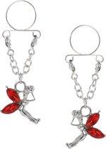 Pinch - indiscrets nip Jewel - tepelhanger - Fee met rode vleugels