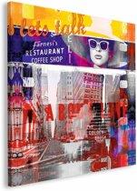 REINDERS New York - Schilderij - 115x115cm