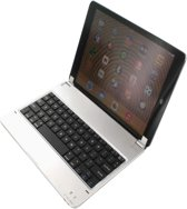Clip-on Bluetooth toetsenbord voor iPad Air 1 / iPad Air 2/ iPad Pro 9.7, luxe draadloos toetsenbord, handig werken zoals een laptop / MacBook, grijs , merk i12Cover