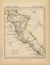 Historische kaart, plattegrond van gemeente Bergen in Limburg uit 1867 door Kuyper van Kaartcadeau.com