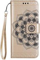 Shop4 - Samsung Galaxy S9 Hoesje - Wallet Case Vintage Mandala Goud
