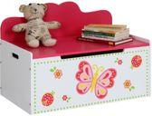 Kinder opbergbank, opbergkist, speelgoedbank, speelgoedkist, vlinder
