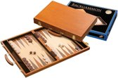 Backgammon Koffer Bruin Ithaka Hout ingelegd 46x30 cm