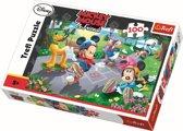 Rolschaatsen /  Mickey Mouse, 100 stukjes Puzzel