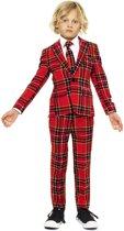 OppoSuits The Lumberjack - Jongens Kostuum - Rood - Kerst - Maat 98/104