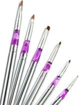Nail Art Acryl Penselen Nagels & Dotting Tool Set - Pen Kwastjes Gelnagels / Acryl Nagels