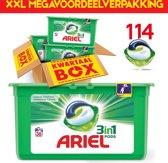 Ariel Original Pods 114 pods | Geschikt voor iedere was | 114 capsules | Kwartaalpakket | XXL voordeelverpakking | Megabox | Ariel Wasmiddel