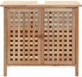 Badkamermeubel badkamerkast kast voor badkamer met deuren en planken hout wastafelkast wastafelonderkast wastafel bruin